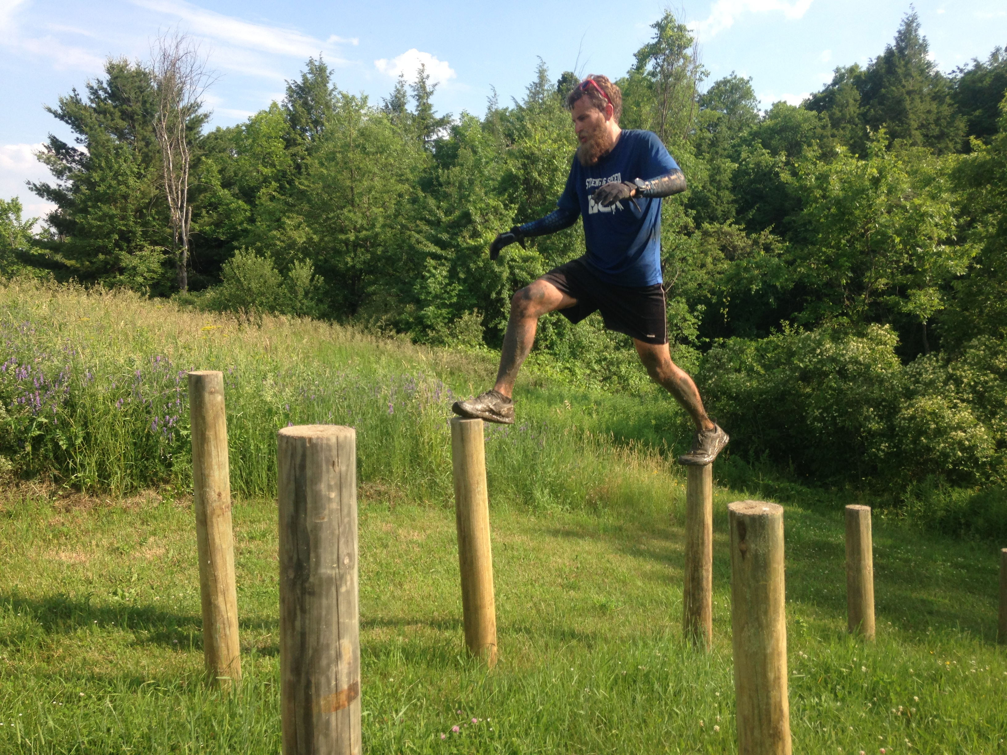 Jordan Smith was a crucial pacer during the event. He ran a total of 60 miles over four days of OCR.