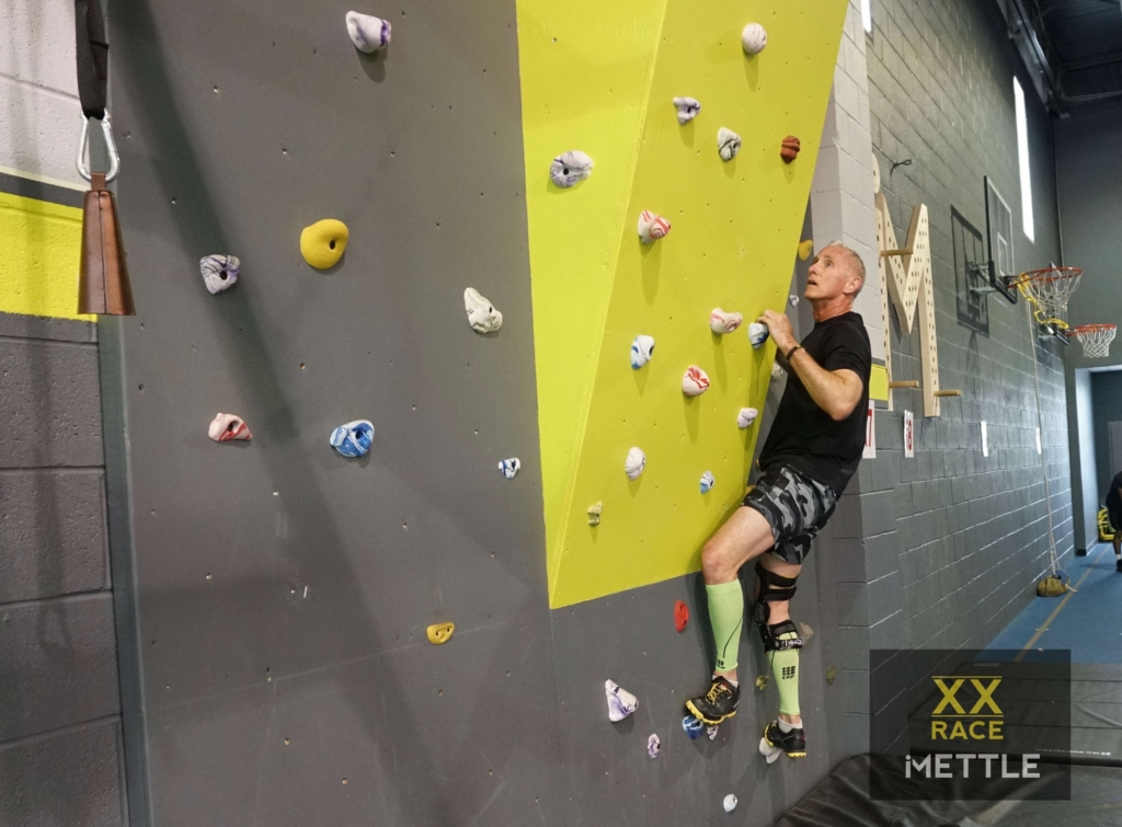 rock wall traverse